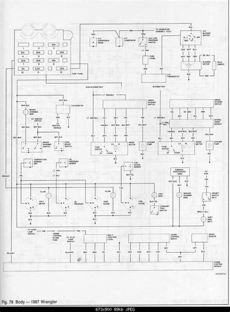 yj gauge cluster wiring diagram jeepforumcom