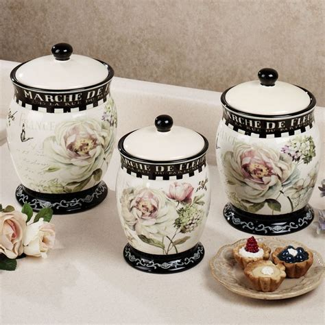 canisters sets for the kitchen marche de fleurs kitchen canister set canisters