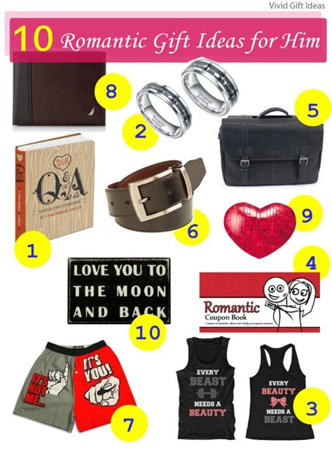 10 outrageous ideas for your romantic gift for wife 10 romantic gift ideas for him vivid s