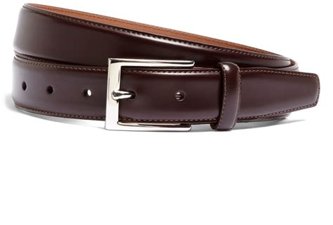 brothers silver buckle leather dress belt where