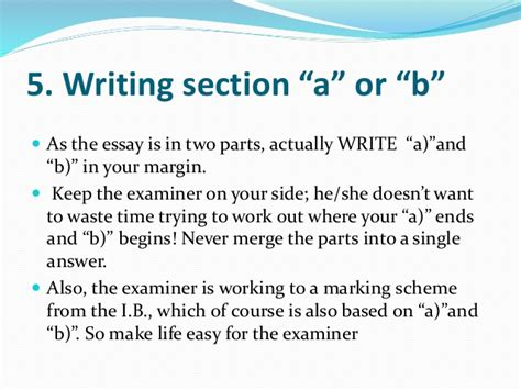 Extended Essay Language B by Ib Extended Essay Margins