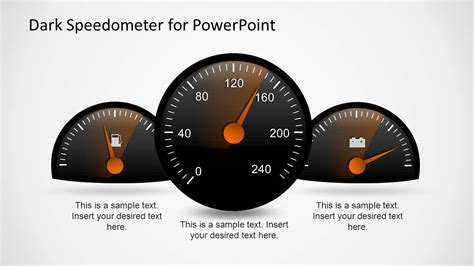 dark speedometer template for powerpoint slidemodel