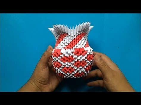 florero origami 3d paso a paso origami 3d florero youtube