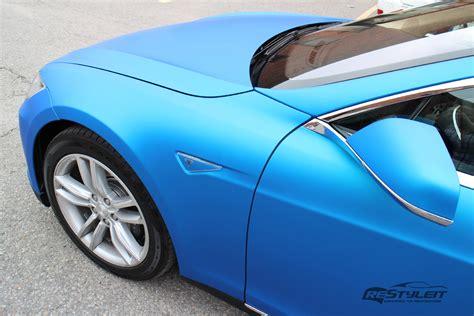 matt farbe matte blue aluminum tesla model s vehicle customization