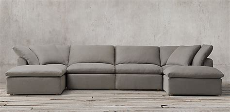 the cloud leather sectional the cloud sofa cloud sofa comfy deep seated loaf thesofa