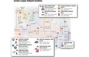 map of ballparks in arizona cactus league ballparks map pictures to pin on