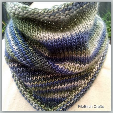 Bandana Knit fitzbirch crafts stash busting cowls scarves and capes
