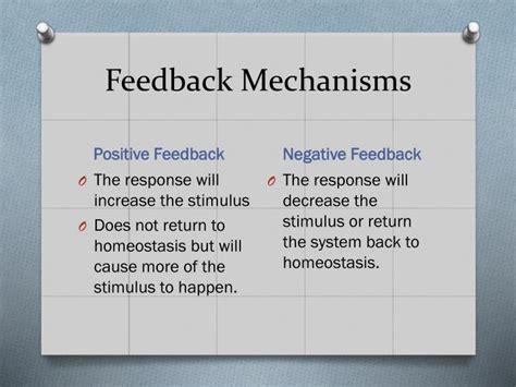 Feedback Mechanisms Worksheet Answers by Ppt Feedback Mechanisms Powerpoint Presentation Id 5654003