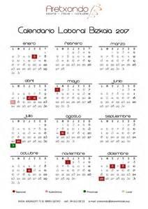 Calendario Laboral 2018 Vizcaya Calendario Laboral Bizkaia 2017 Asesor 237 A Aretxondo