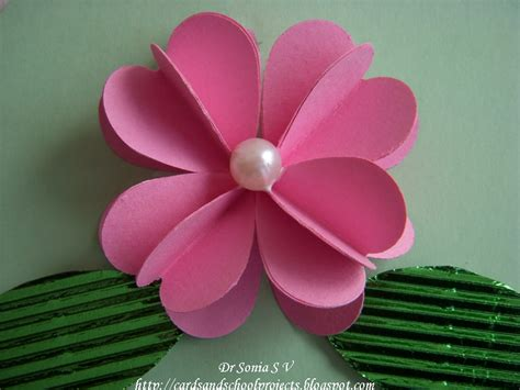paper punch flower tutorial cards crafts kids projects heart punch 3 d flower tutorial