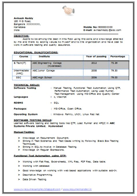 Resume Sample Quick Learner by Over 10000 Cv And Resume Samples With Free Download B