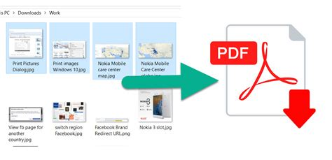 windows 10 tutorial guide pdf combine images jpg png to create a pdf file for sharing