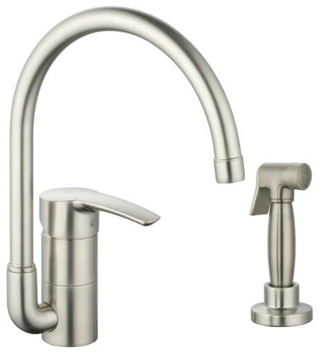 Grohe Kitchen Faucet Hose Grohe 33 980 En1 Eurostyle Kitchen Faucet With Hose And Spray Brushed Nickel Omomononofoanoe
