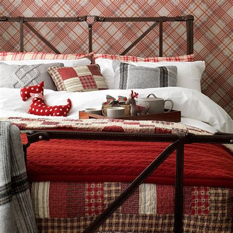 country bedroom wallpaper country bedroom with red tartan wallpaper decorating
