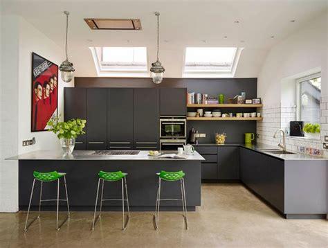 cuisine integr馥 cuisine avec table integr 233 e deco maison moderne