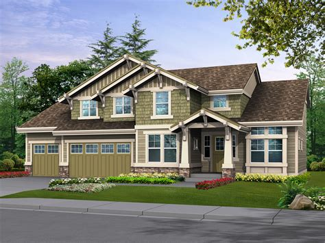 House Plans With Extra Large Garages by Oversized Garage Offers Extra Parking Or Shop 23080jd