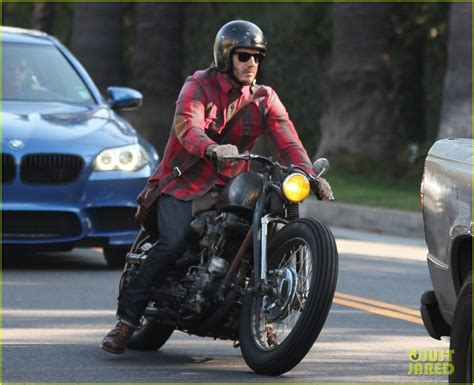 full sized photo of david beckham motorcycle man in weho