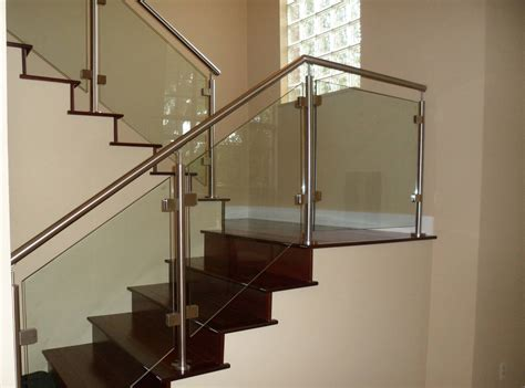 Glass Stair Banisters by Miami Stairs Glass Railings Stainless Railings Wood