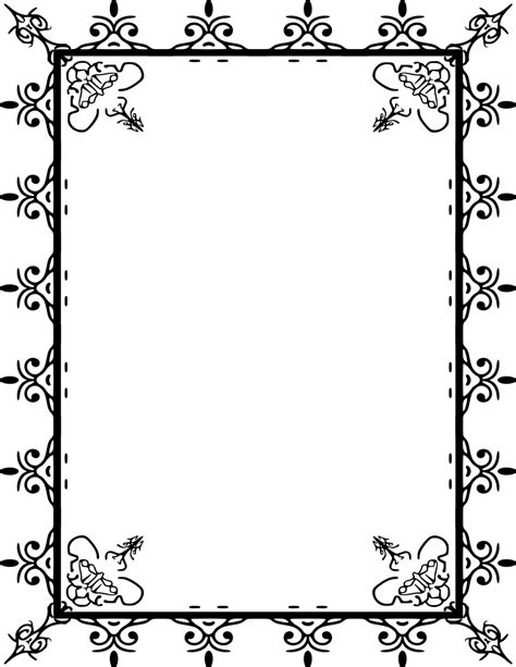 For Pages picture frame borders for pages clipart best