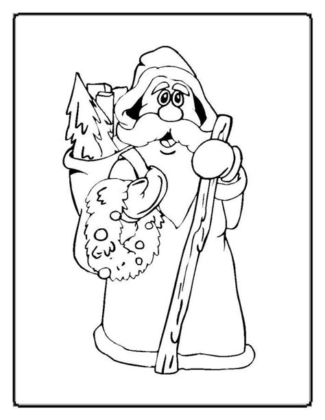 coloring pages of father christmas father christmas coloring pages az coloring pages