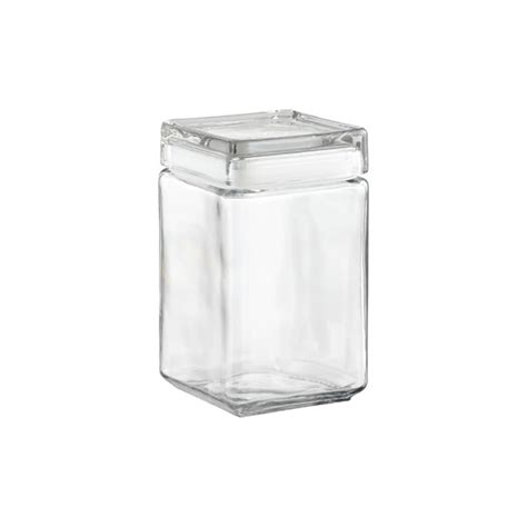 square kitchen canisters anchor hocking stackable square glass canisters the container store