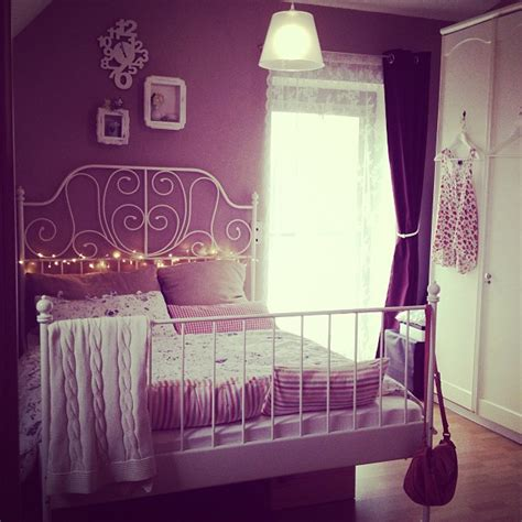 ikea purple bedroom dark pink walls with cast iron ikea bed bedrooms