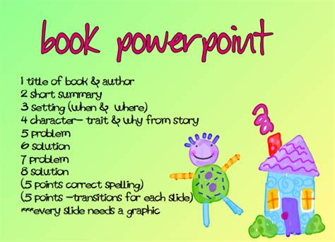 a time to share and create book report the powerpoint way