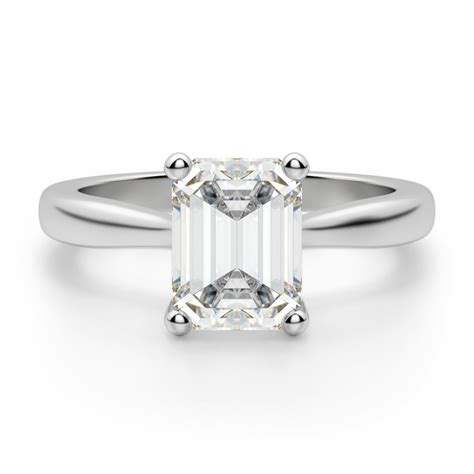 montreal emerald cut engagement ring