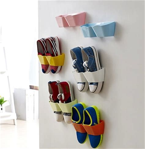 diy shoe holder aliexpress buy 5 pcs lot new plastic wall hanging