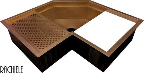 kitchen corner sinks corner kitchen sinks in copper and stainless steel that