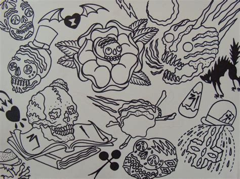 traditional tattoo flash outlines