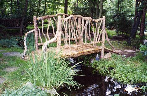 rustic bridges walkways garden bridges pedestrian