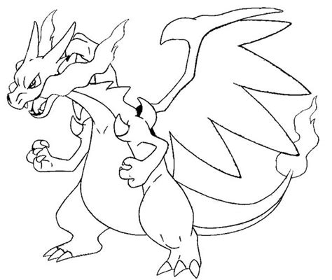Charizard Y Coloring Page by Charizard Coloring Pages Getcoloringpages