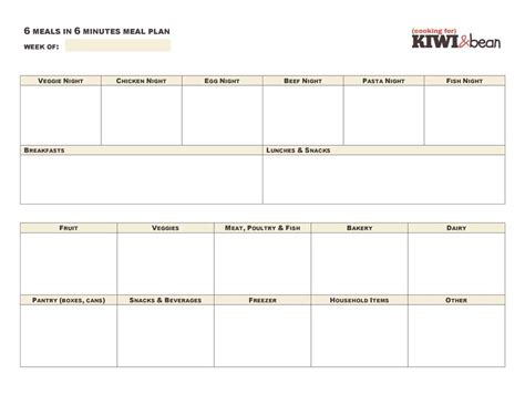 list template for google docs meal planner template google docs planner template free