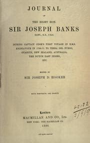 journal of the right hon 1896 sir joseph banks classic reprint books journal of the right hon sir joseph banks during captain