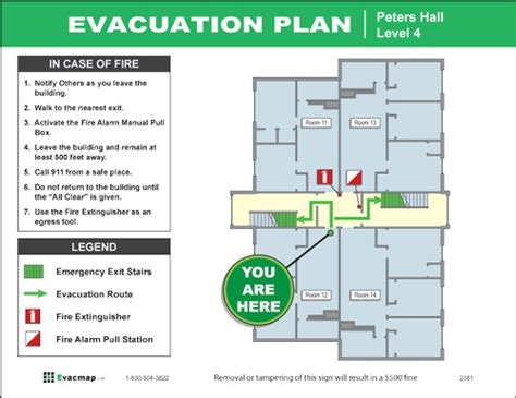 Evacuation Floor Plan Template by Evacdisplays Education Sector
