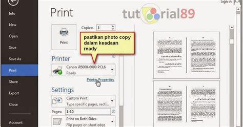 cara membuat halaman word bolak balik cara mudah print bolak balik dengan canon ir5000 tutorial89