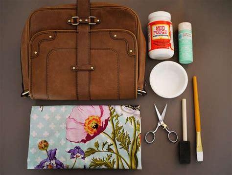 decoupage purse tutorial floral purse makeovers diy decoupage bag