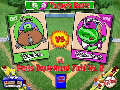 backyard baseball 1997 sports
