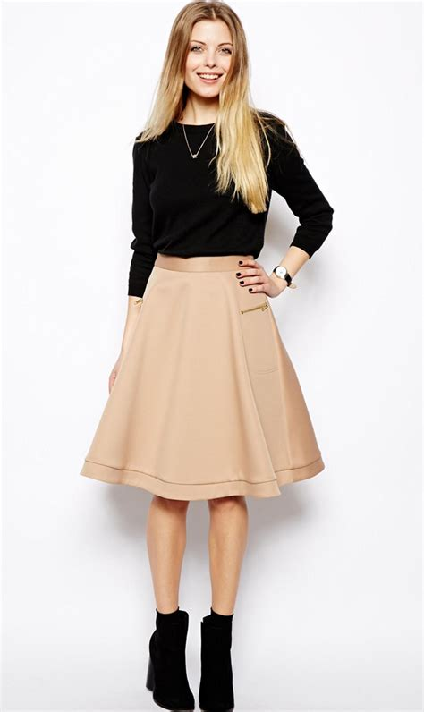 something to wear now midi skirt ankle boots fashion