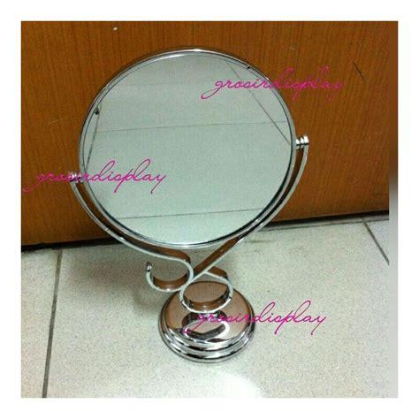 Cermin Plastik cermin meja berdiri kaca bingkai plastik grosir display
