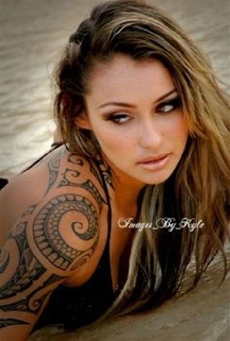 female tribal sleeve tattoos tribal tattoos for 080 tattoos