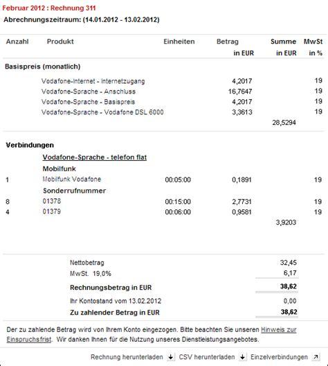 Rechnung Privatpersonen Ausland Hilfe Verbindungs 252 Bersicht Einzelverbindungsnachweis Rechnung