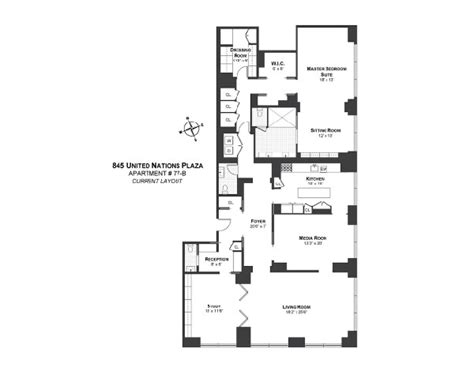 the trumps floor plan on the 77th floor of the famous trump world tower by mark