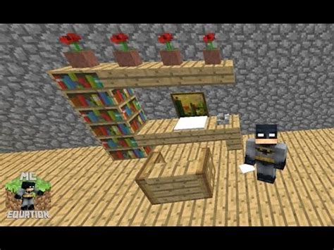 How Do You Make A Desk In Minecraft by Minecraft How To Make A Study Area With Desk Computer By