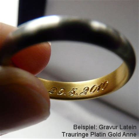 Gravur Verlobungsring by Gravuren Platinschmuck Trauringe Platin Eheringe
