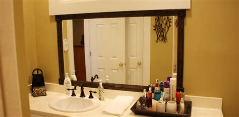 how to frame a bathroom mirror with wood how to add a wood frame to a bathroom mirror today s