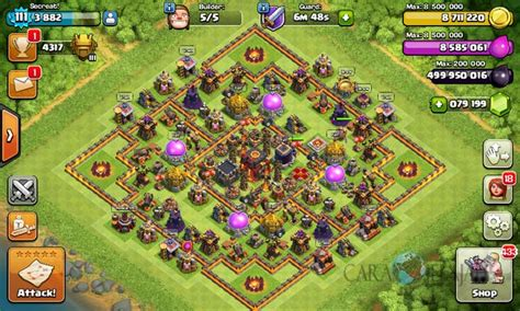 th10 trophy base town hall 10 trophy pushwar base anti golem anti desain base trophy clash of clans town hall 10 update 2017