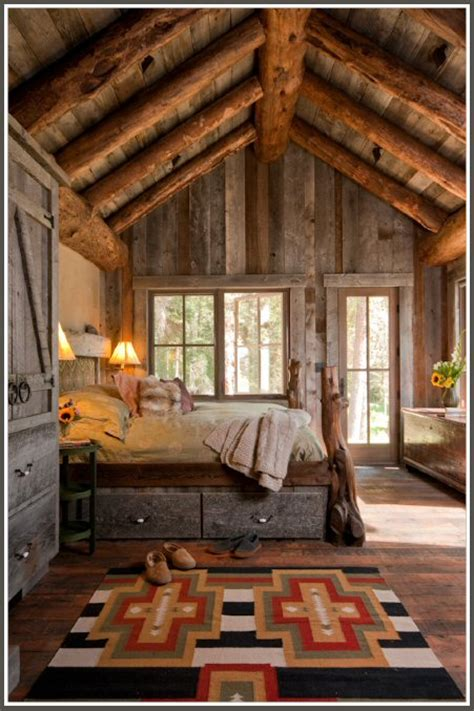 log cabin style bedroom interior styles designs