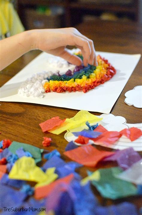 tissue paper rainbow craft tissue paper rainbow craft for the suburban